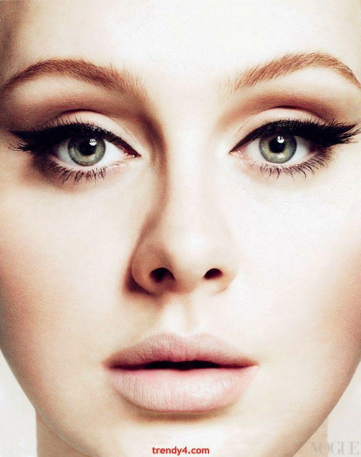 blaue Augenschminke Makeup Trends Sommer 2014